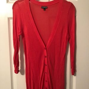 Express Coral Cardigan 3/4 Sleeve Women's XS